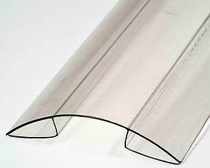 Коньковый соединительный профиль Oscar RP 4-6мм прозрачный 6000мм