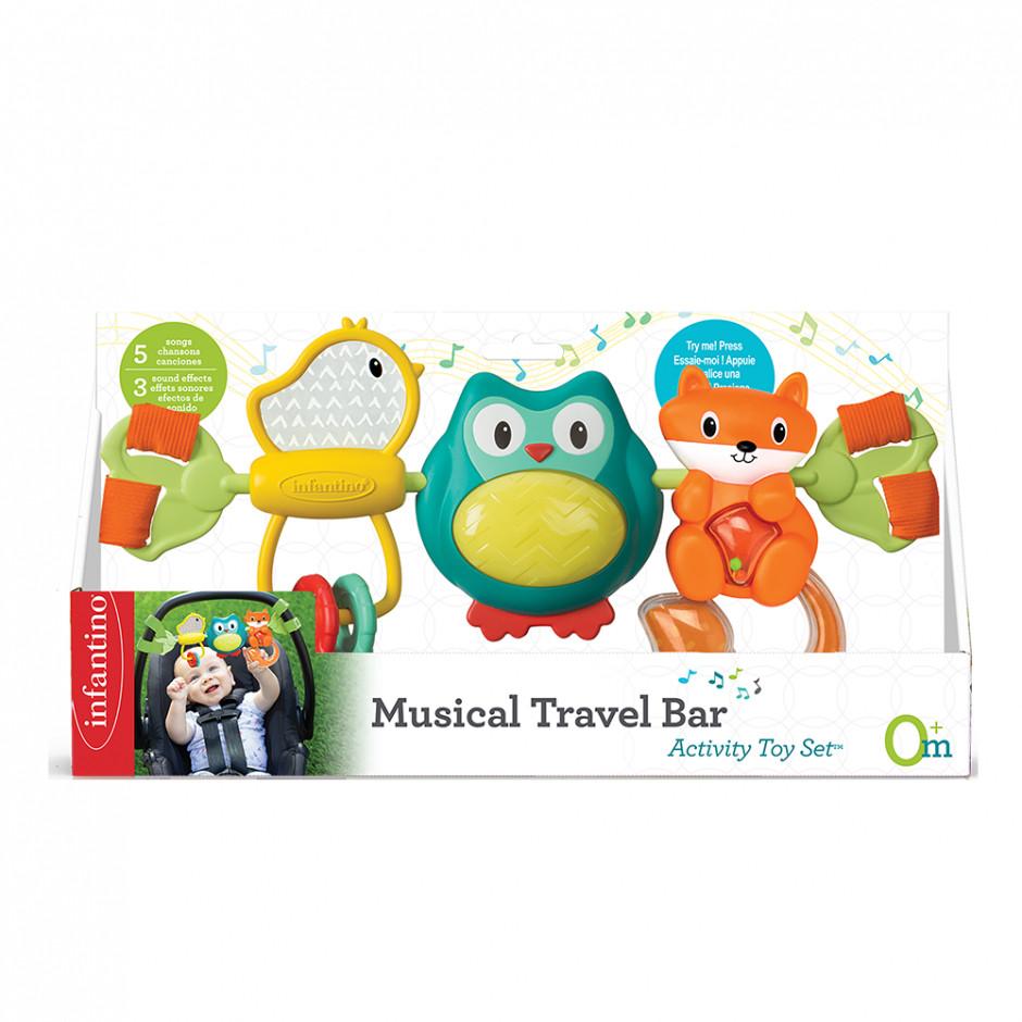 INFANTINO Навесные вращающиеся игрушки «Путешественники»