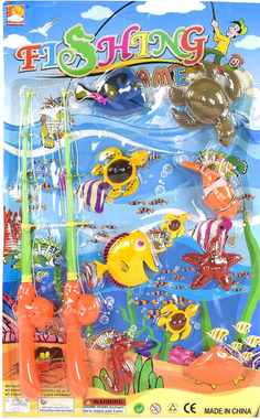 Рыбалка на магнитах для детей. Детская игрушечная игра рыбалка.