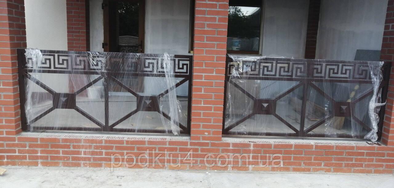 Перила декоративные из черного металла