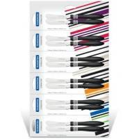 Нож Tramontina COR & COR для масла, 2 шт, черная ручка 23463/203