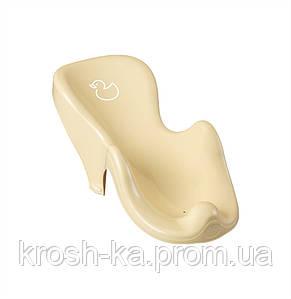 Горка для купания антискользящая Качечка Tega Польша жёлтая DK-003