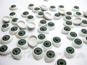 """Глазки """"живые""""для кукол , пластиковые,рыбки,зеленые,10х13 мм(10 шт)"""