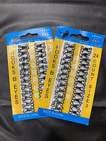 Крючки пришивные железные упаковка (24 шт), размер: 3, фото 1