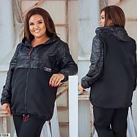Куртка женская осенняя плащевка большого размера 48-58, 2 цвета