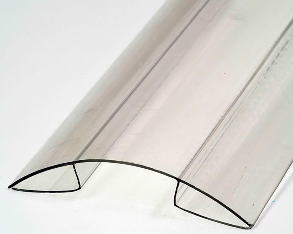 Коньковый соединительный профиль Oscar RP 8-10мм прозрачный 6000мм