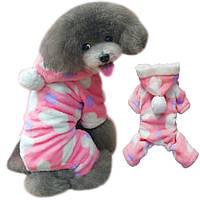 Флисовый комбинезон для собак «Сердечки»