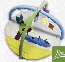 Килимок ігровий з дугами і підвісними іграшками Гусениця