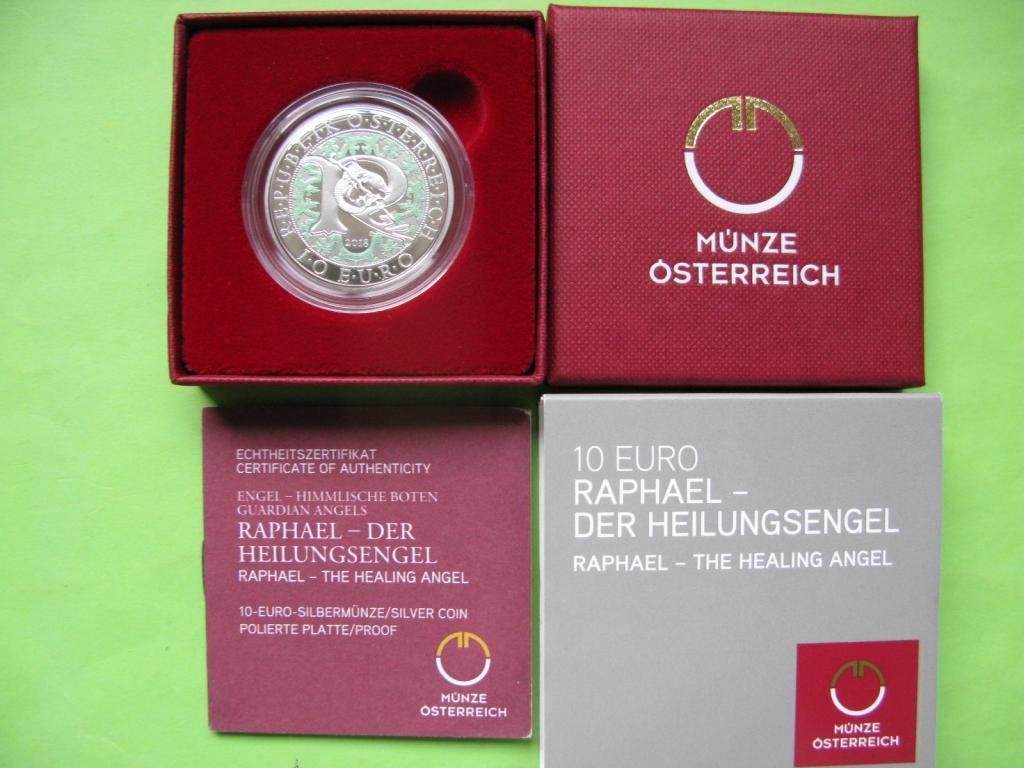 Австрия 10 евро 2018 г. Архангел Рафаэль , серебро