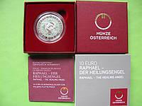 Австрия 10 евро 2018 г. Архангел Рафаэль , серебро, фото 1