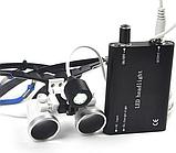 Бинокуляры стоматологические 3.5 X-R с LED подсветкой, высокое качество, гарантия., фото 4