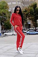 Красный спортивный костюм женский, фото 1