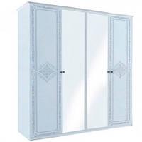 """Шкаф """"Луиза 4 дв с зеркалом """"Белый глянец ТМ """"Миро марк"""", фото 1"""