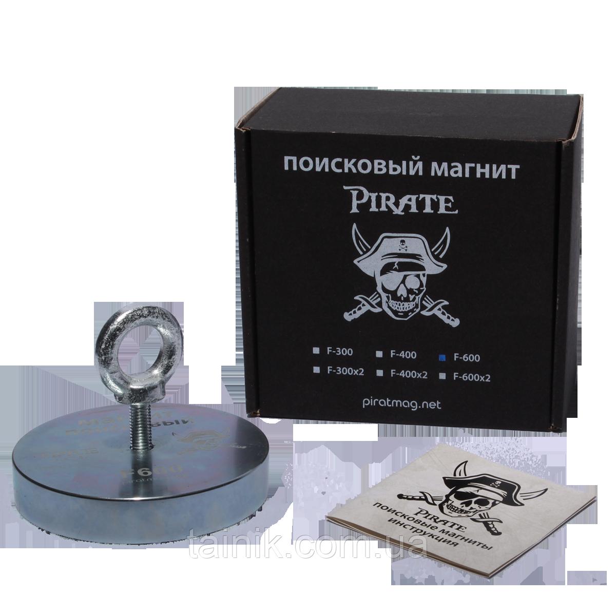 Поисковый односторонний магнит Пират F-600 кг