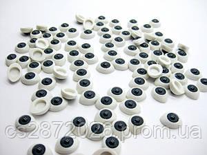 """Глазки """"живые""""для кукол , пластиковые,рыбки,серые ,8х10 мм ( 10 шт)"""