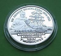 Южная Георгия и Южные Сандвичевы Острова 2 фунта 2004 г. Парусник / корабль., фото 1