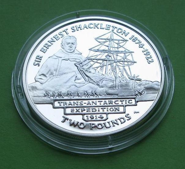 Южная Георгия и Южные Сандвичевы Острова 2 фунта 2004 г. Парусник / корабль.