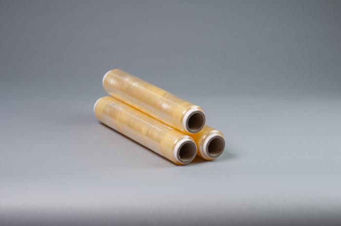 Пищевая пленка упаковочная ПВХ, желтая, фиолетовая, 300мм х 300м