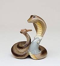 Статуэтка  Змея- Аристократ (8см) из фарфора в подарочной коробке
