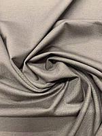 Ткань коричневый джерси принтованный супер-мелкая точка
