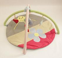 Килимок ігровий з дугами і підвісними іграшками Равлик