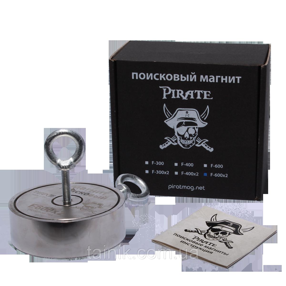 Поисковый двухсторонний магнит Пират F2х600кг