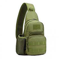 Сумка-рюкзак EDC тактическая, военная однолямочная Protector Plus X216 A14, олива