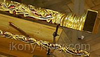Позолота сусальным золотом резных панно и колонн  иконостаса., фото 4