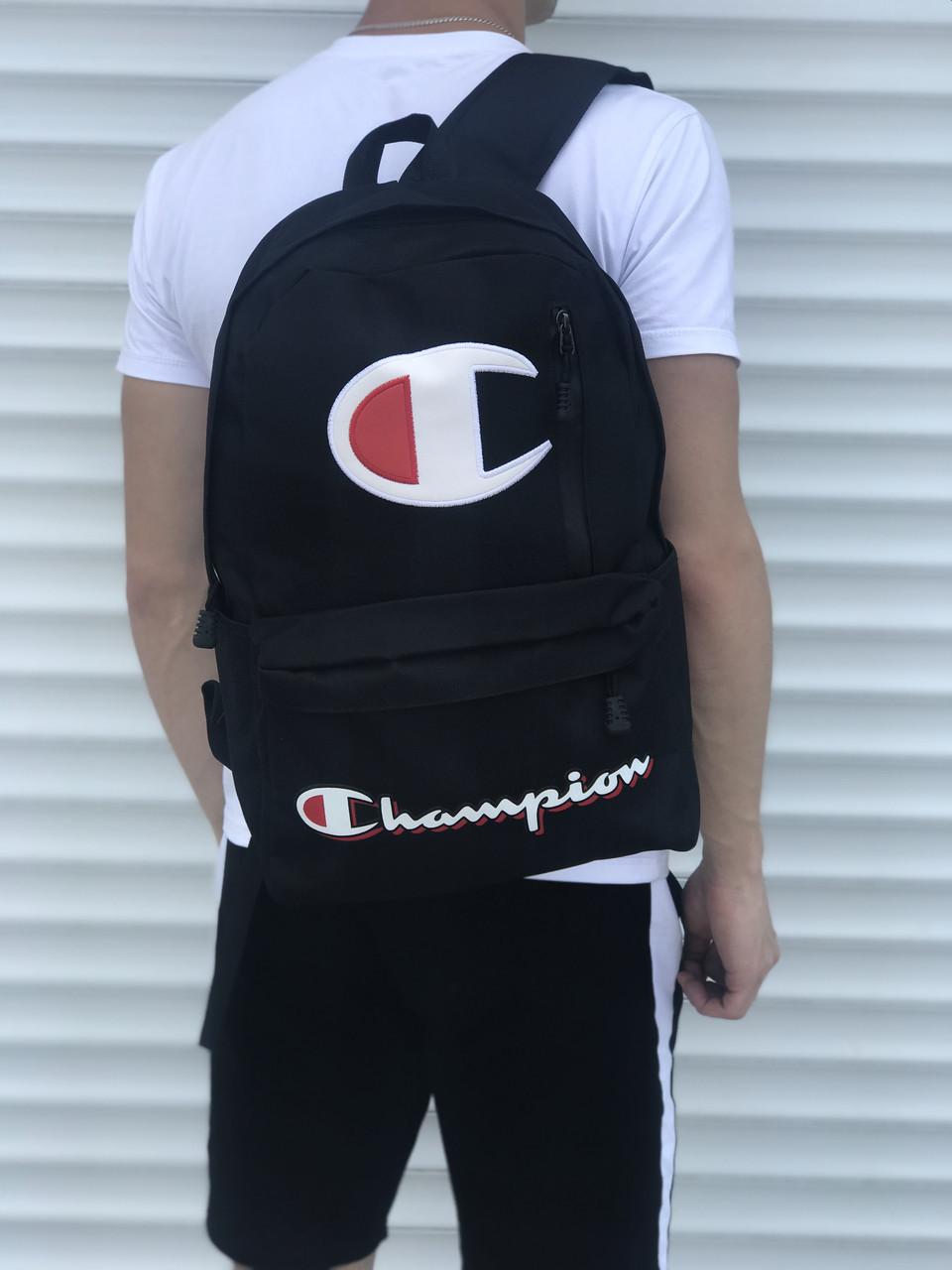 Городской рюкзак в стиле Champion, черный