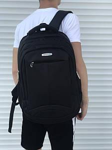 Большой черный рюкзак для школы или спорта