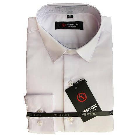 Классическая рубашка для мальчика Verton   длинный рукав приталенная белая, фото 2
