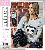 """Пижама женская из хлопкового трикотажа. Размер L. """"Elitol"""", Турция. Женские пижамы из коттона, одежда для сна"""