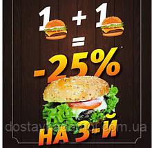 1+1=-25%на 3й бургер