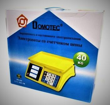 Весы торговые электронные DOMOTEC MS-226, пластиковый корпус 40кг