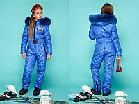 Зимний комбинезон для девочек, размеры 36-40, голубой