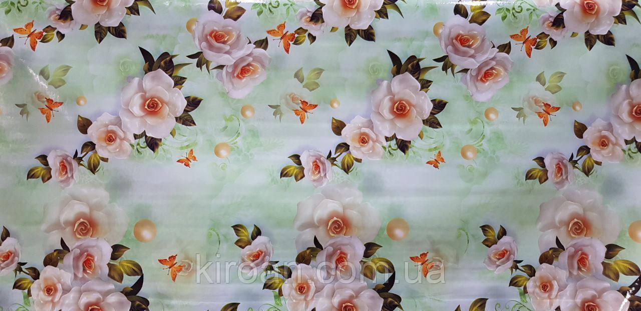 Їдальня глянсова клейонка на тканинній основі Фотопринт (Якісна яскравість і чіткість малюнка) 140 см * 20 м