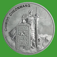 Корея 1 клай 2019 г. Воин Chiwoo Cheonwang . (серебро 999 пробы , 1 унция)
