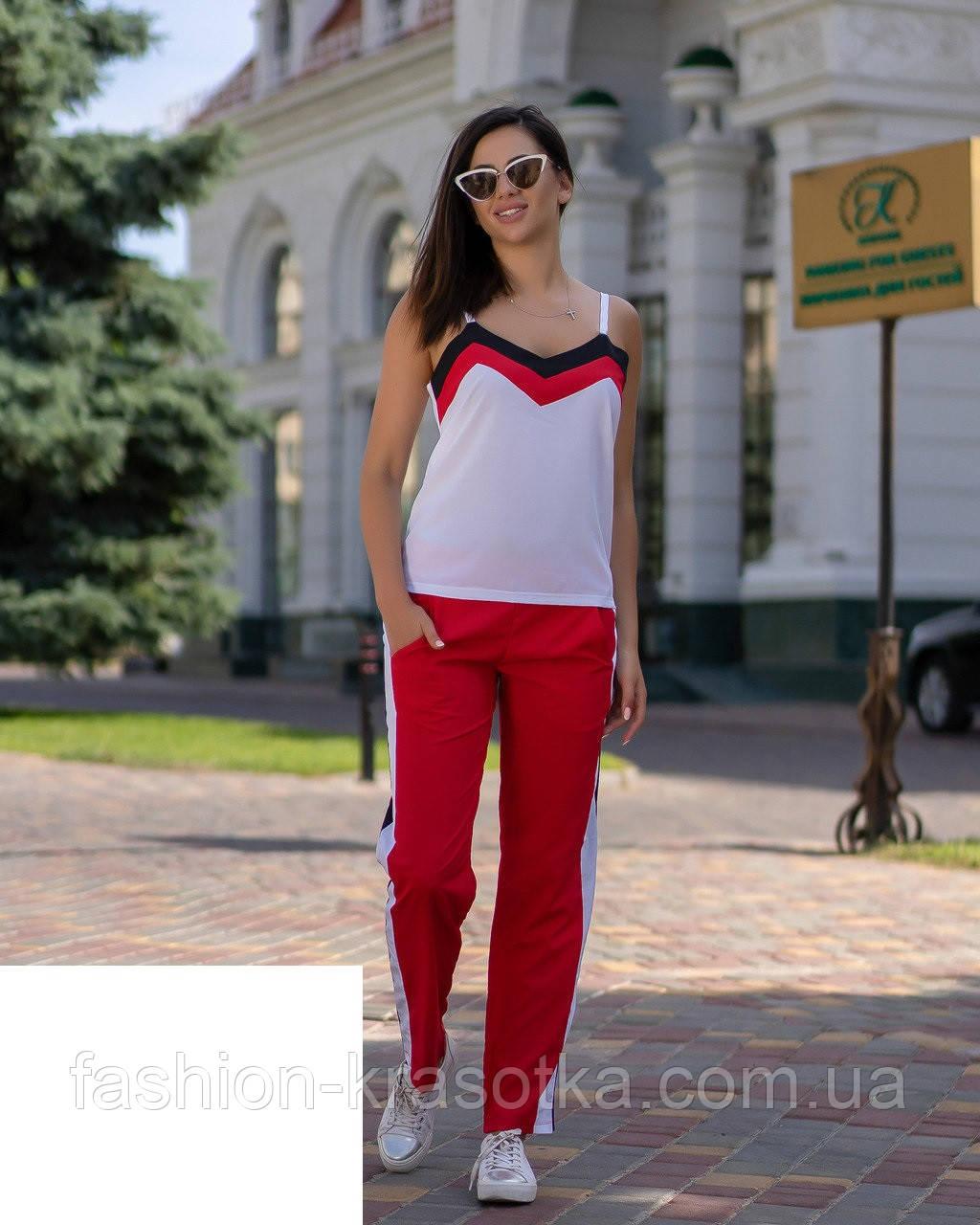 Модный женский летний костюм,ткань софт,размеры:42,44,46,48.