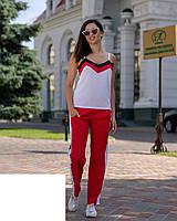 Модный женский летний костюм,ткань софт,размеры:42,44,46,48., фото 1