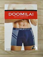 Мужские трусы боксёры хлопок+бамбук Doomilai 02026 (ростовка XL-2XL-3XL-4Xl)  ТМБ-1811537
