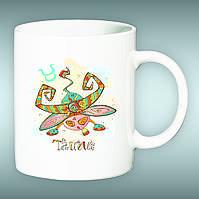 "Чашка со знаком зодиака ""Телец"". Печать на чашках"