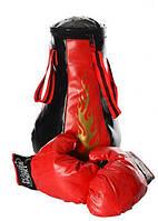 Боксерская груша и перчатки набор Stenson MS 1044 8 звуков Красный (006292)