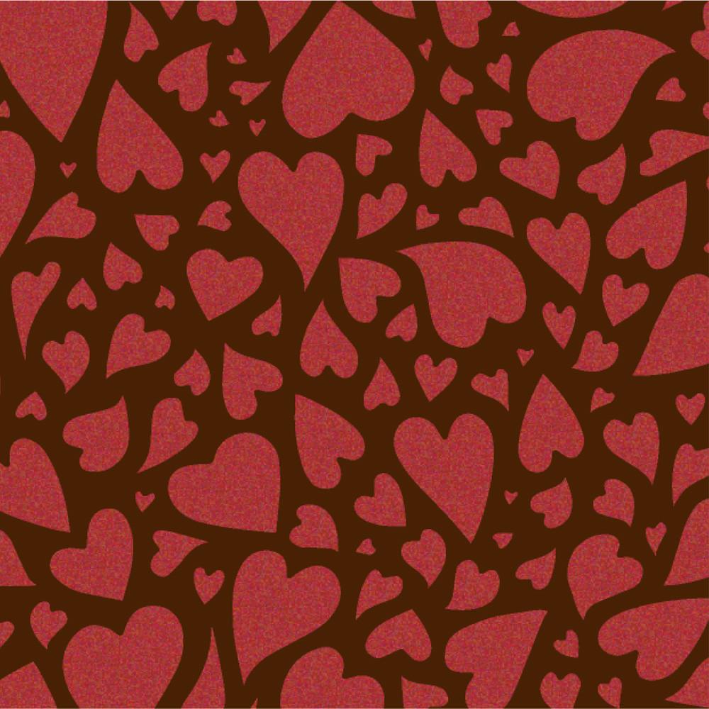 """Трансфер для шоколада """"Сердца"""""""