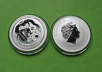 Австралия 50 центов 2012 г. Серия Лунный календарь - Год дракона . (серебро 999 пробы , 1/2 унции)