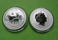 Австралия 50 центов 2015 г. Серия Лунный календарь - Год козы . (серебро 999 пробы , 1/2 унции)