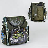Рюкзак (портфель) школьный каркасный для мальчика, ортопедическая спинка, 3D рисунок 36196