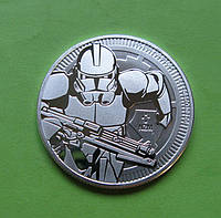 Ниуэ 2 доллара 2019 г. Звездные войны - солдат Клон (серебро 999 пробы , 1 унция)