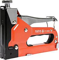 Степлер YATO с регулятором для скоб 53 4-14 мм, S 10-12 мм, J 10-14 мм YT-70020