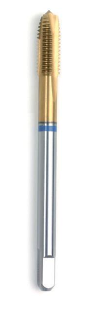 Машинний мітчик DIN 376 (2184-1) 6H HSSE-TIN Form B Голубе кільце M 18  GSR Німеччина