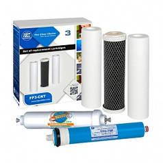 Комплект картриджей Aquafilter + Post + Membrane ( 5 сменных картриджей)